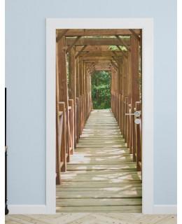 Дървен мост - фототапет за врата
