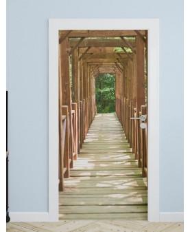 Дървен мост - стикер за врата