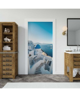 Санторини - фототапет за врата