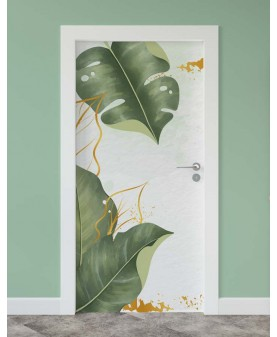 Тропически листа - стикер за врата