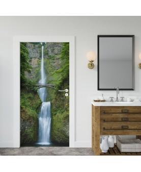 Водопад - стикер за врата