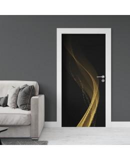 Златни вълни - стикер за врата