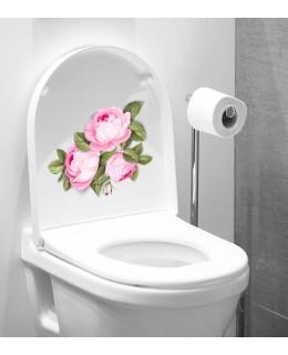 3D стикер за тоалетна чиния - Рози
