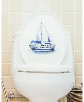 Декорация за тоалетна чиния с лодка