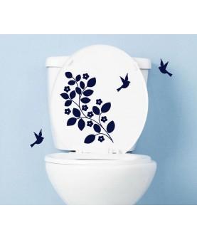 Декорация за тоалетна чиния с птички