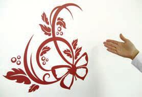 мнтаж на декоративни стикери за стена