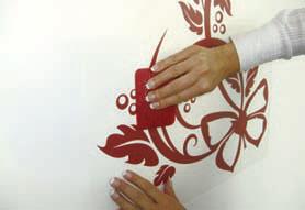 как се монтират стикери за стена
